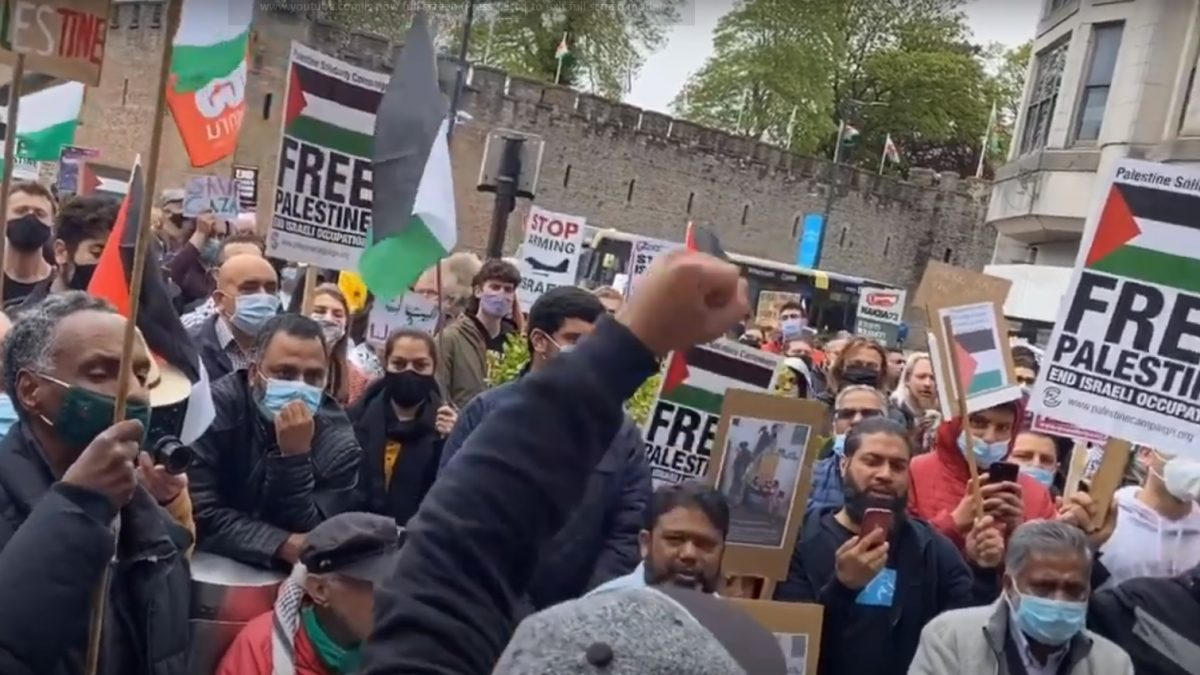 Protests in Cardiff and Swansea call for an end to 'Israeli state terror'