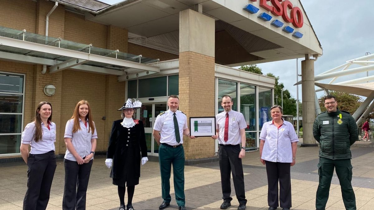 Port Talbot supermarket staff commended for quick-thinking actions