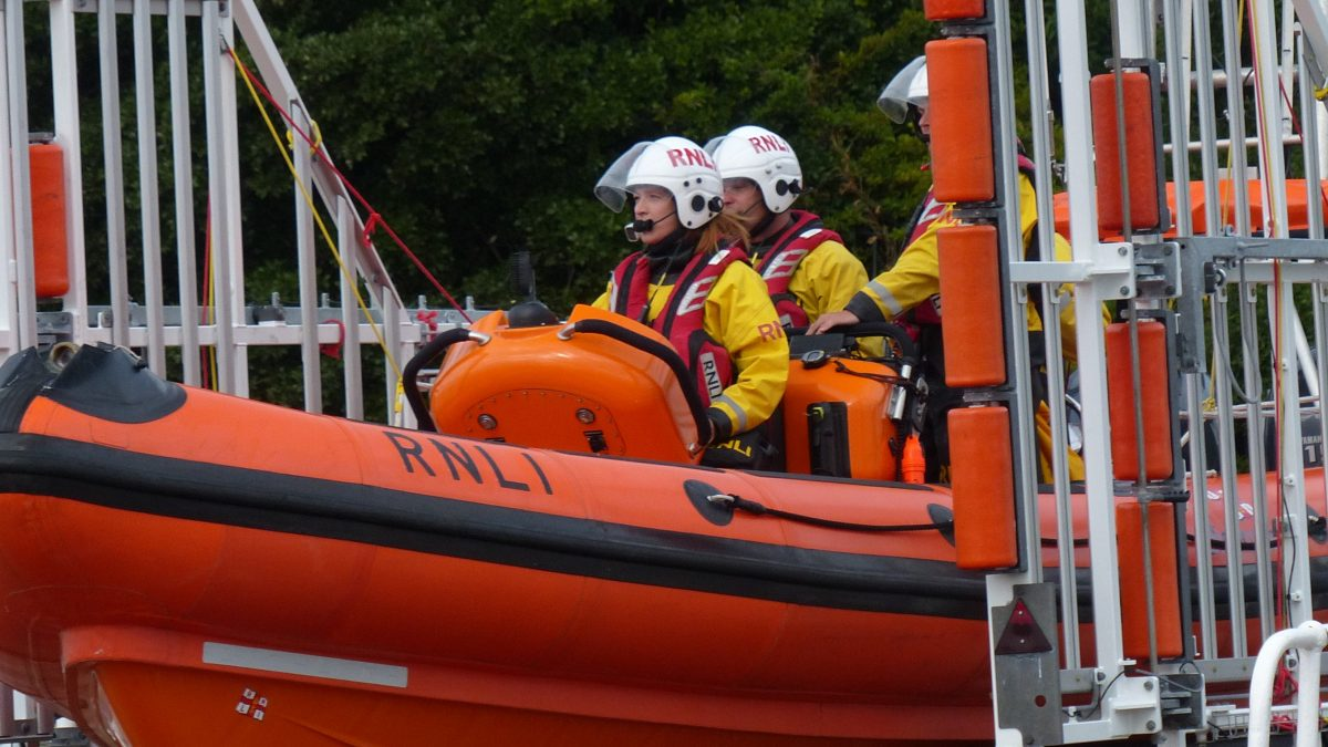 Assessment success on a busy day for RNLI Penarth's crew