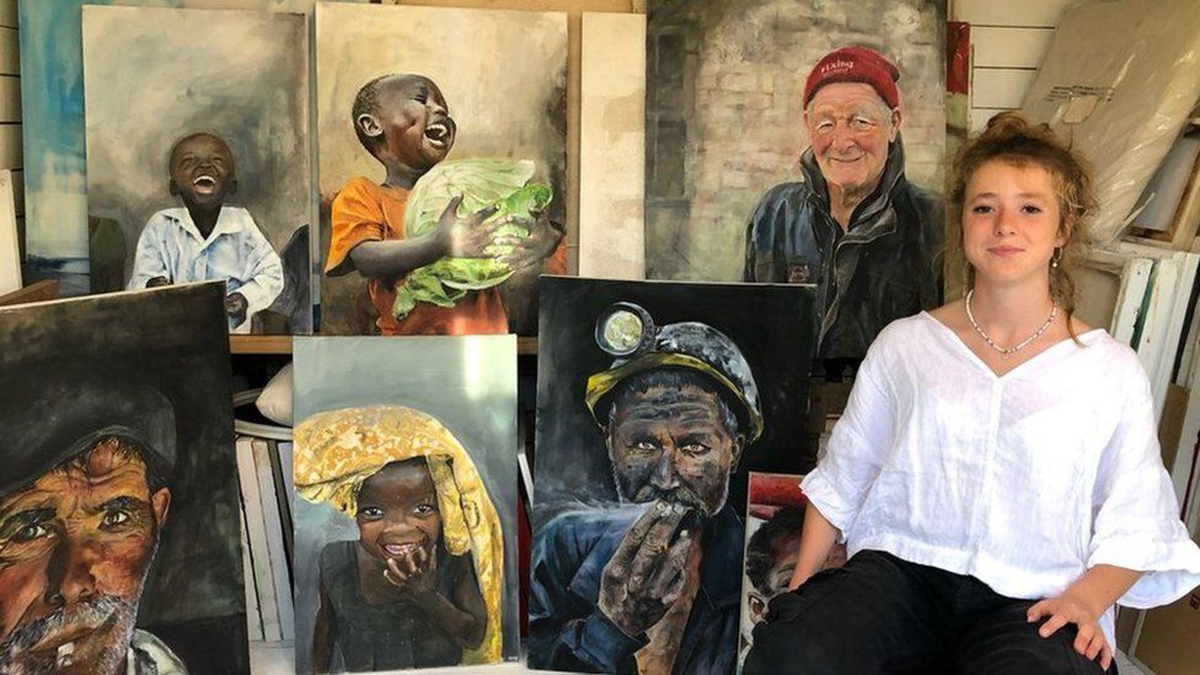 Swansea teenager, who took up art during lockdown, sells work for thousands