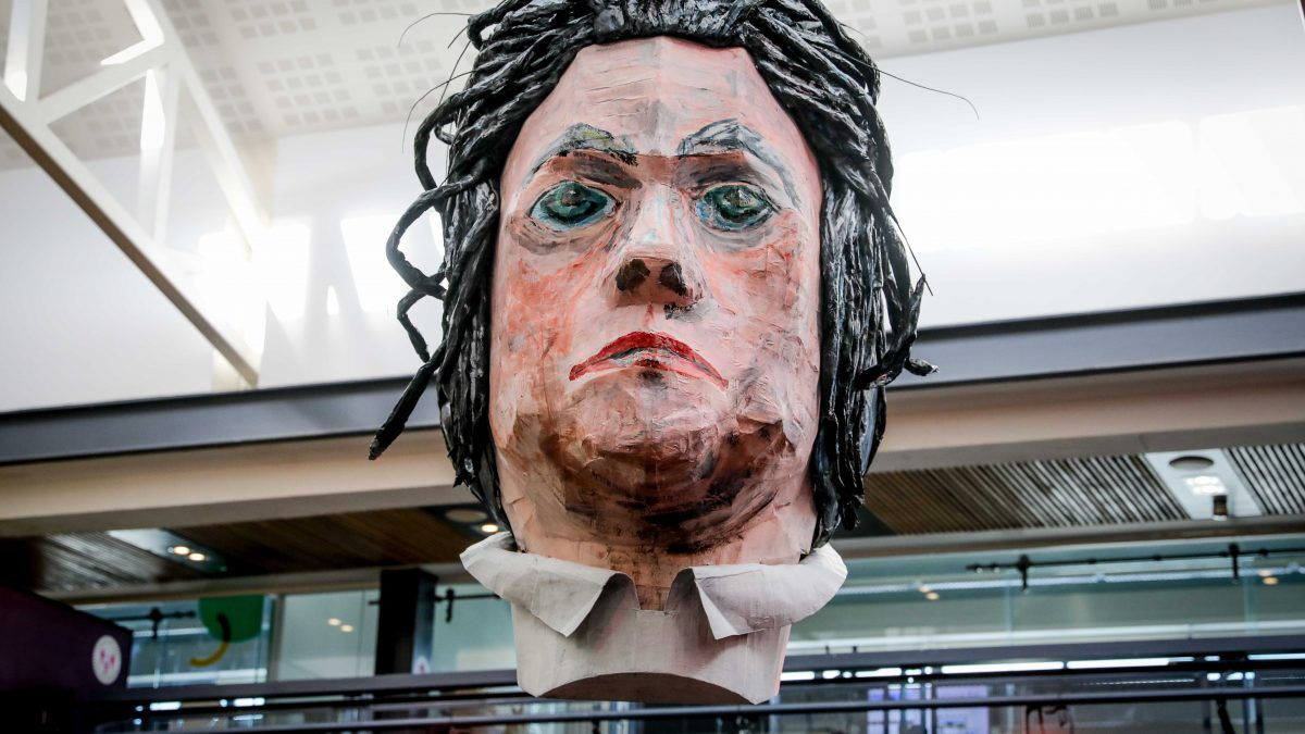 """World's biggest Beethoven bust like a """"Damian Hurst style experience, a little bit scary"""""""
