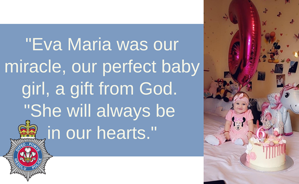 Parents' tribute to 'perfect baby girl' following fatal collision in Llanelli